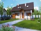 Проект экономного дома с гаражом и мансардой