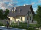 Проект стильного дома с гаражом и мансардой